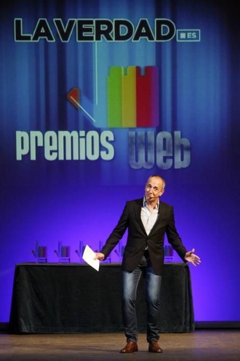 La presentación a cargo del Humorista Bermúdez. Fuente: La Verdad