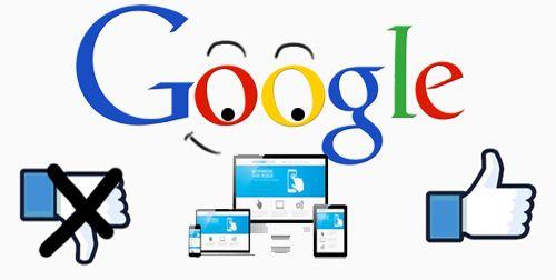 Web no adaptada a los móviles, a Google no le gustas.
