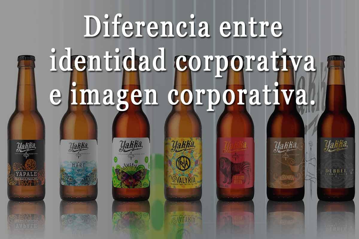 diferencia entre identidad corporativa e imagen corporativa.